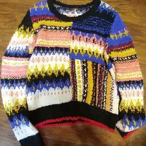 Free people multi colored sweater